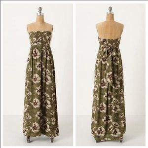 Anthro Edme & Esyllte Cultivated Floral Maxi Dress